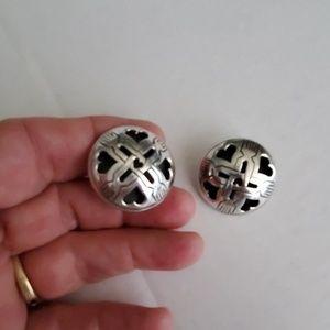 John Hardy Sterling Silver Clip Earrings